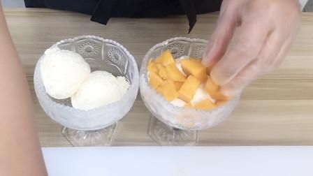 来吃酸奶冰淇淋,芒果冰激凌自己做,无冰碴冰棍,上个视频有配方