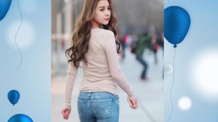 成都街拍瞬间-这牛仔裤大小适中,版型力挺,价格应该不便宜