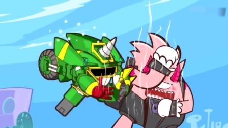 超人的碰到发烧怪都会觉得好烫,他们用冰淇淋小推车攻击怪兽!
