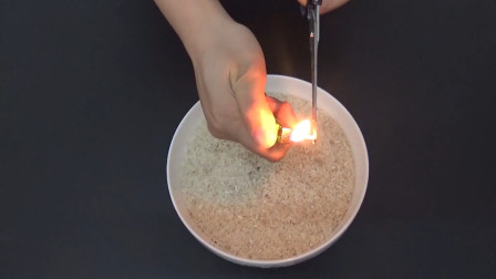 """用打火机烧一下大米,新米陈米马上""""现出原形"""",学到就是赚到"""