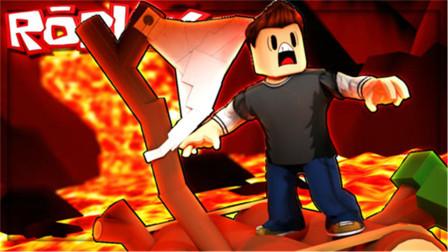 Roblox 自然灾害模拟器!公园遭遇火山爆发,作死碰岩浆,手臂都没了!