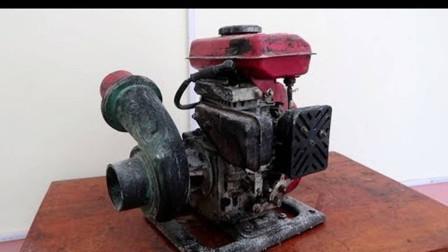 老外找出一台我国制作的旧水泵,修正创新后,制品让人冷艳