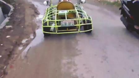 男子将自家卡丁车改装成跑车开挂的动手能力一般人学不来