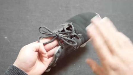鞋带双蝴蝶结的打法时尚又好看慢动作一步步教会大家