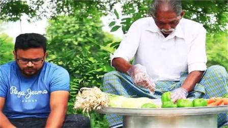 做饭最干净的印度大爷,这炒饭做好之后,看着就有食欲!