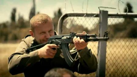 俄罗斯最新战争片,恐怖分子牛皮哄哄敢打俄军,连枪都被缴了