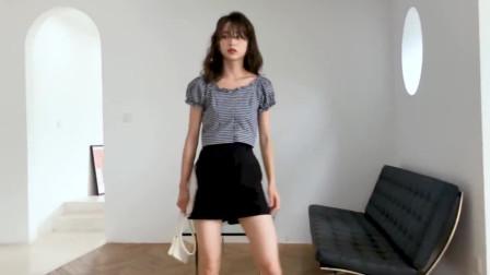 韩版宽松显瘦高腰短裤女