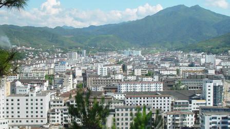 地图里看城市化,赣州市崇义县城市化进程