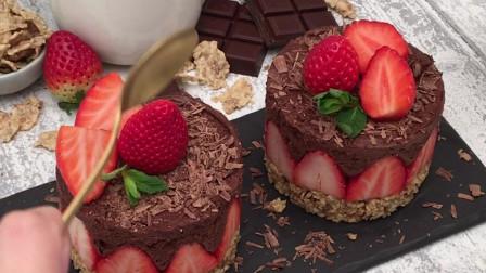 低糖巧克力慕斯杯:不用模具,不用烤箱,你还有什么借口不做?
