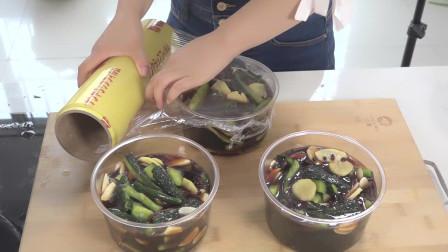 早餐必不可少的小咸菜腌黄瓜,简单的食材做出爽口的小菜
