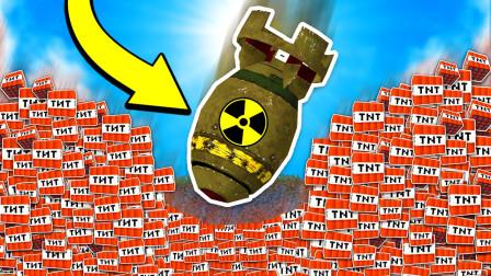 我的世界核弹手雷模组 拥有毁灭整个MC世界威力  魔哒解说