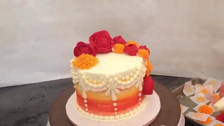 国外达人制作的立体裱花蛋糕,满满的治愈气息