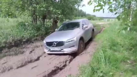 新款沃尔沃XC60越野性能到底如何?走段烂泥路试试就知道了!