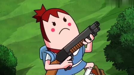 搞笑吃鸡动画马可波落地没枪被亚洲拳王吓破胆别怕萌妹来救你