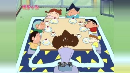 蜡笔小新:妈妈做蛋糕不熟练,大家等待多时,仍迟迟做不出