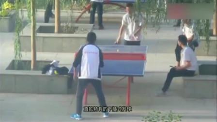 这只是最平常不过的课间中学生乒乓球切磋,外国人看了会崩溃