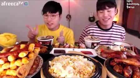 【大胃王吃播】韩国小哥的美食烤鸡腿撸串!