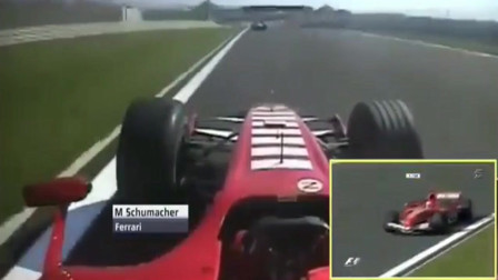 什么才叫一代车王!舒马赫比赛开法拉利F1方程式赛车是这样超车的。真是厉害