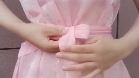 内衣秀:连衣裙这样系腰带,简直不要太漂亮,快试一试吧!