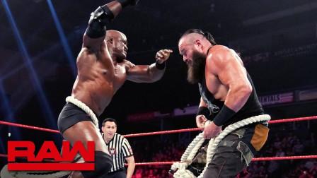 【RAW 06/24】大力士拔河比赛 人间怪兽蜜汁微笑 一把拉过莱斯利