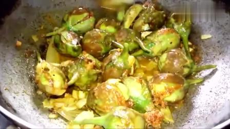 印度美女制作茄子咖喱,味道独特