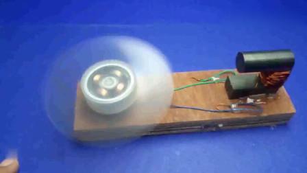 科学实验:简易自运行自由能风扇