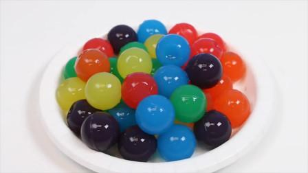 高颜值彩虹果冻球是这样做成的!做法简单有趣,学会了做给孩子吃