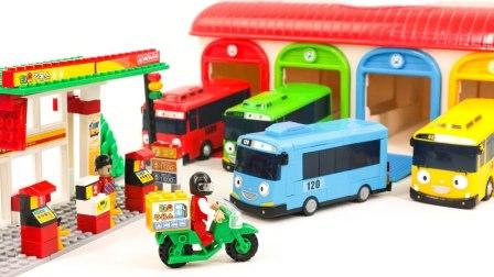 小公共汽车太友玩具 制作汽车 儿童玩具 汽车玩具