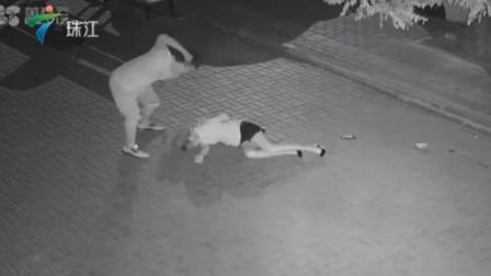男子当街殴打拖行女子激起公愤 今日关注 20190625