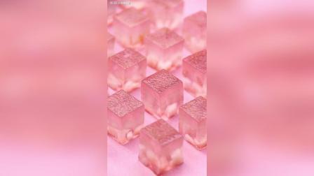 粉色蜜桃果冻, 像极了初恋的味道 , 学着做给女朋友吃!