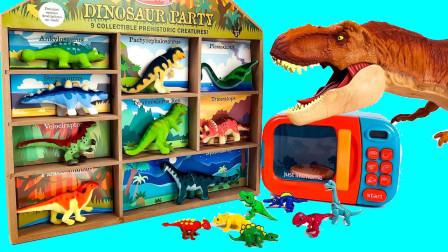 大恐龙帮助恐龙化石恢复到恐龙模型找到正确的位置