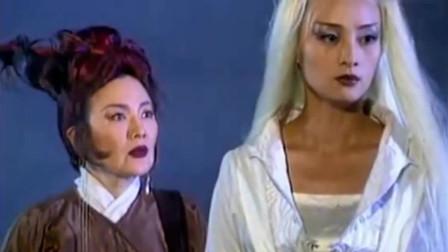 白发魔女:蒋勤勤饰演白发魔女,就算是全身白发都那么好看,靓丽的风景线