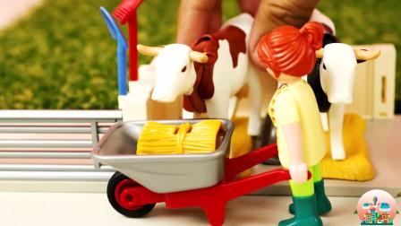 乡村牧场玩具,牧场动物猪牛羊玩具