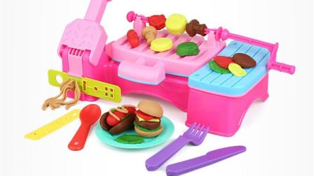 烧烤箱玩具烤牛肉蘑菇香肠