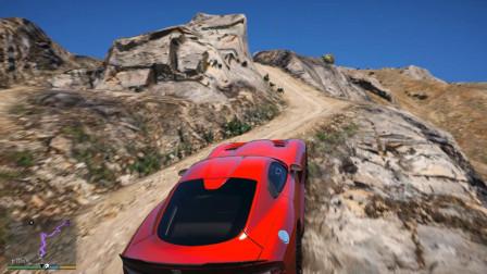 GTA5:道奇蝰蛇上C山,这跑车的性能太给力了