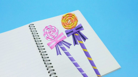 自制第五人格甜心蛋糕手杖笔,简单有创意,孩子从此爱上写作业