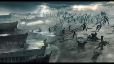 电影《拯救大兵瑞恩》里,诺曼底登陆的画面,很激烈很残酷