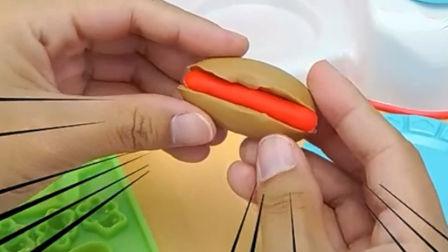 橡皮泥玩具视频培乐多彩泥手工做火腿肠面包玩具故事 .mp4