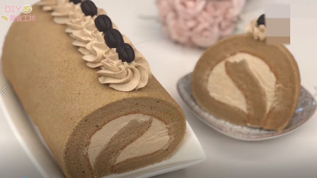 「烘焙教程」教你做咖啡蛋糕卷,好吃不油腻