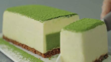 像水豆腐一样的蛋糕你见过吗?软嫩可口,还是孩子最爱的抹茶味哦