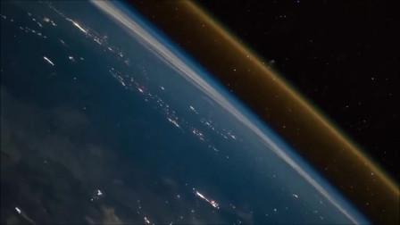 空间站拍下地面发射火箭深入太空过程