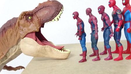 被恐龙吃掉了奇迹复仇者超级英雄大霸王龙玩具