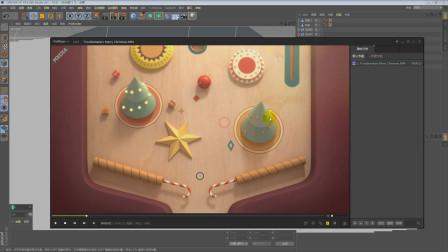 栏目包装C4D三维动画第二个镜头C4D模型制作第二课