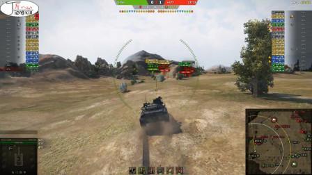 坦克世界蛮荒之地30b全场火力全开吊打对面小盆友
