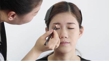 眉毛的基本画法,眉粉眉笔结合使用,画出的眉毛过渡自然