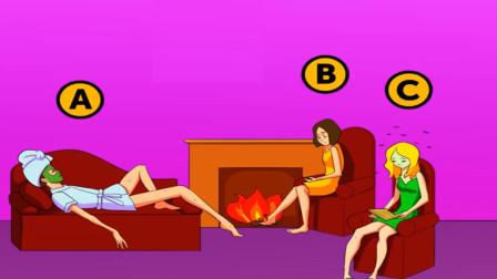 脑力测试:房间里的三个女人中有一个是死人,你能看出是谁吗?
