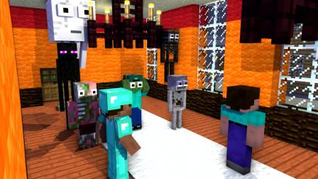 我的世界动画-怪物学院-勇敢挑战丧尸-WINPIN