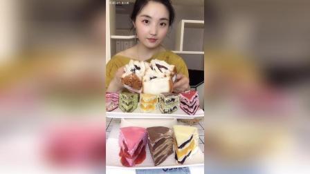 福利视频焙尔妈妈八拼千层蛋糕紫米面包