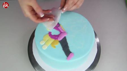 外国特别火的迪士尼公主蛋糕制作视频