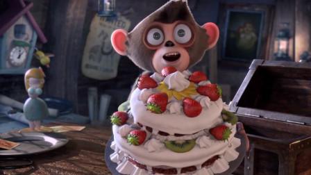 许愿盒只有猴子能用,船长许愿皇冠,猴子掏出生日蛋糕给他